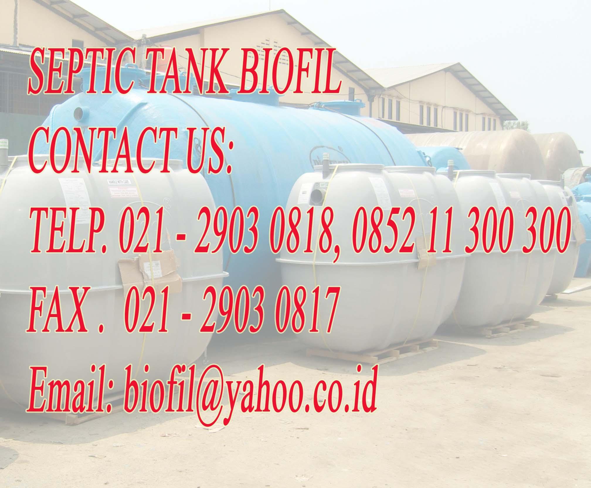 septic tank biofil, induro, stp, ipal, biofive, biogift, sni, bod, cod, tss