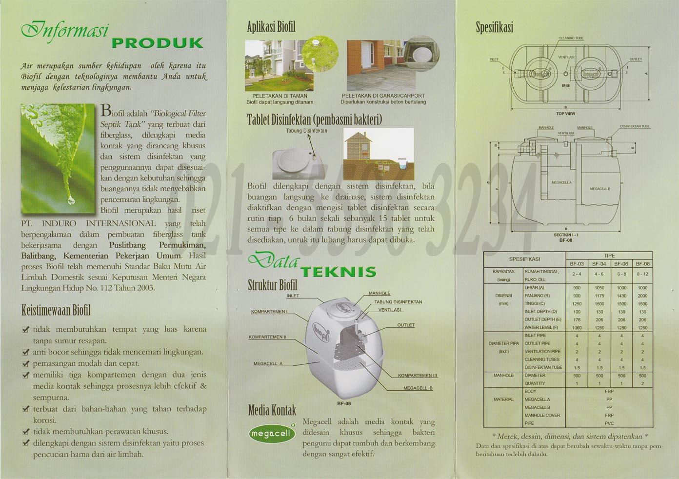 septic tank biofil, stp biofil, portabel toilet fiberglass, septik tenk biopil
