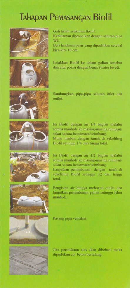 cara pasang septic tank biofil, cara kerja, cara instal, induro, bf series, biocomb, biomaster
