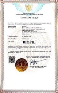 sertifikat merek biofil